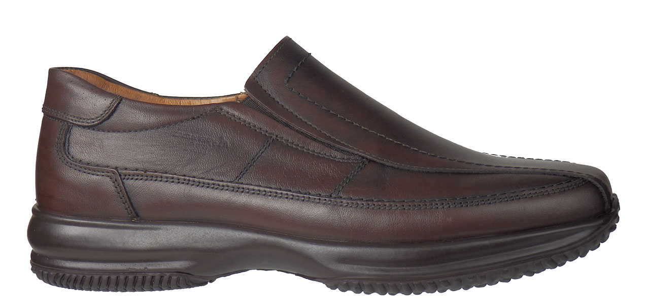 BOXER AIR SHOES 12061 Καφέ ανδρικά   loafers μοκασίνια