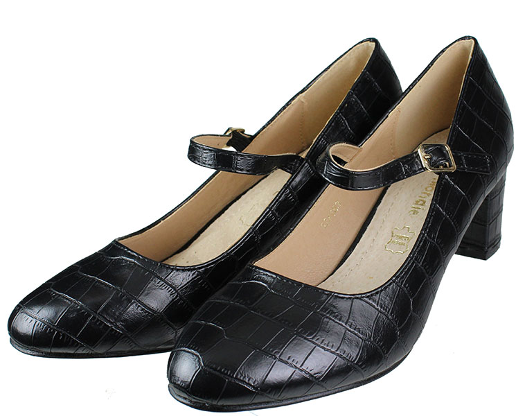 Παπούτσια χορού 37/163 μαύρο κροκό