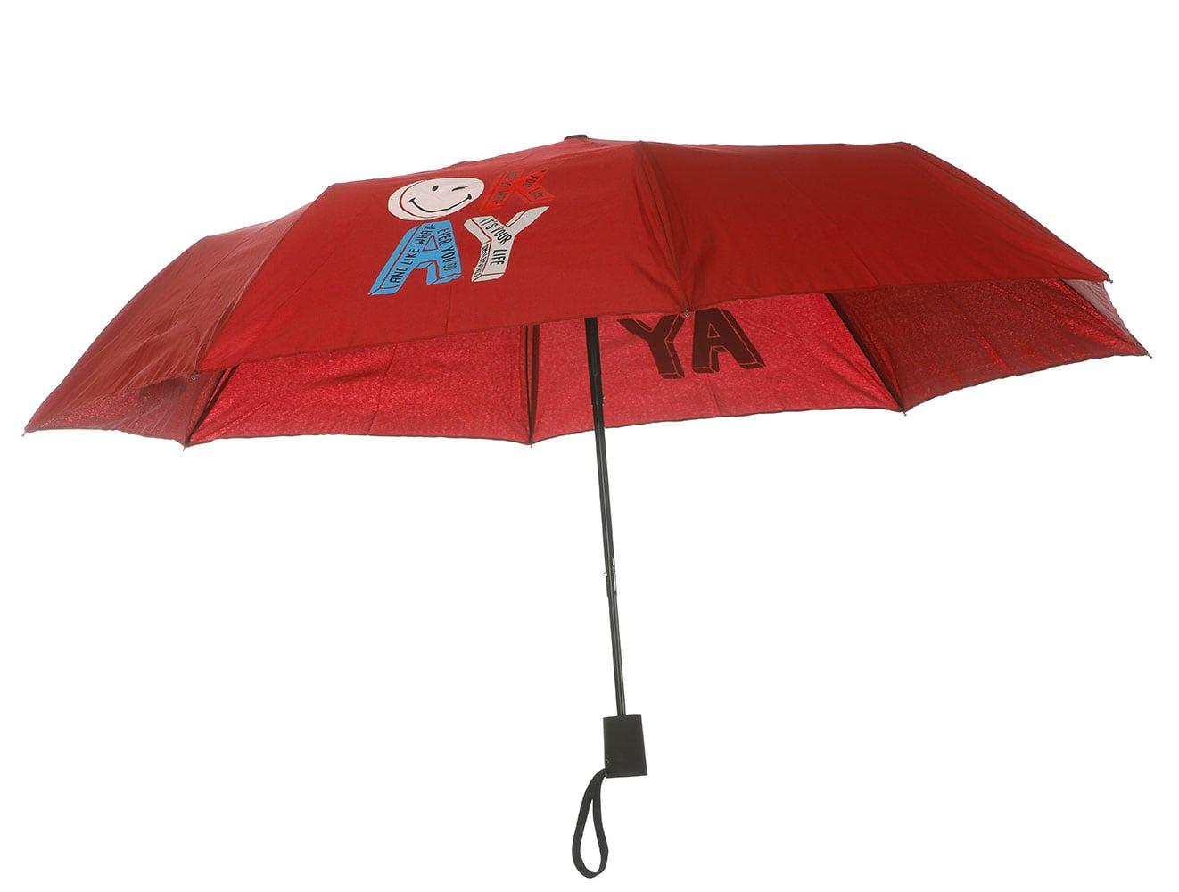 Smiley World Ομπρέλα Σπαστή με Αυτόματο Μηχανισμό SML-9230 Μπορντώ