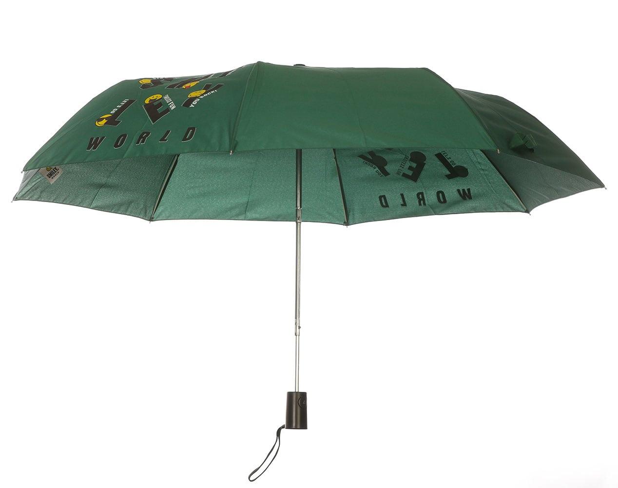 Smiley World Ομπρέλα Σπαστή με Αυτόματο Μηχανισμό SML-9430 Πράσινο
