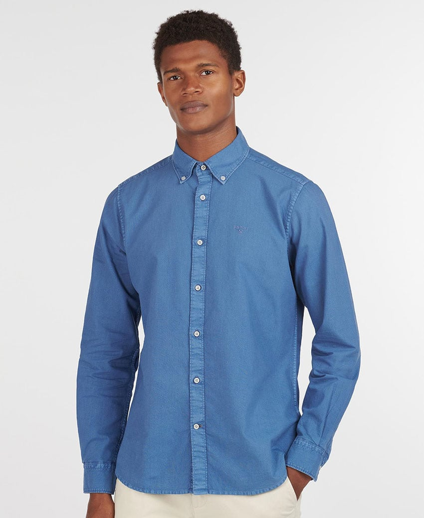 BARBOUR Oxford 13 Tailored Shirt MSH4931BL54 MID BLUE