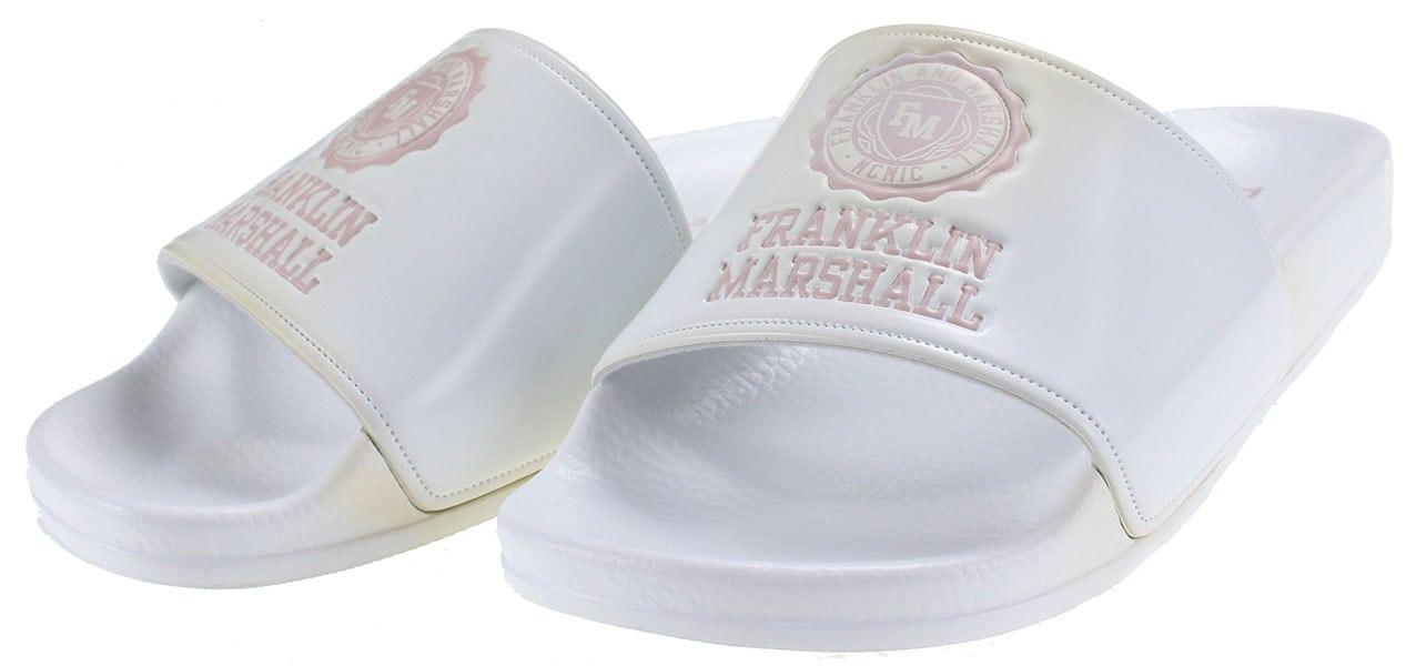 Franklin & Marshall Slipper Base FTUA0001S 0061 Λευκό