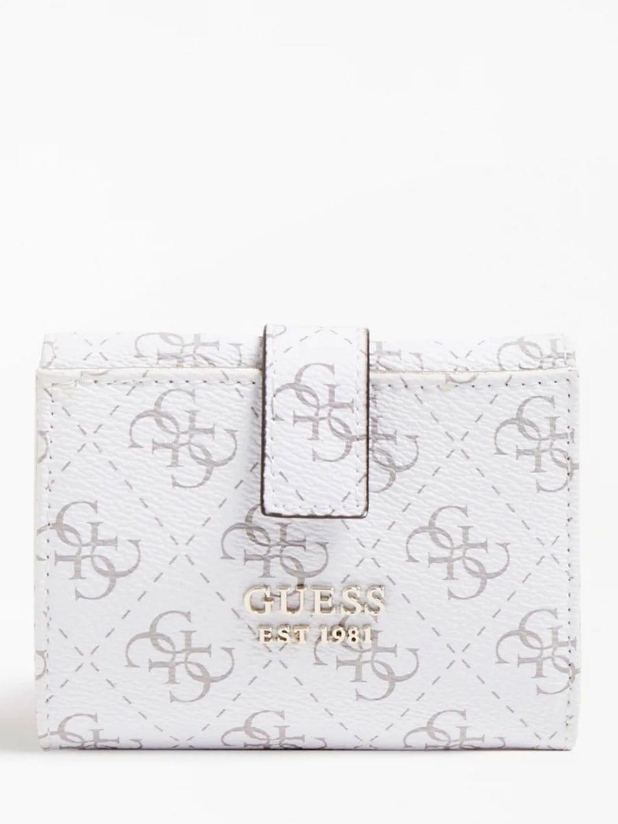 GUESS Tyren 4G Logo Mini Wallet SG796638 WHITE