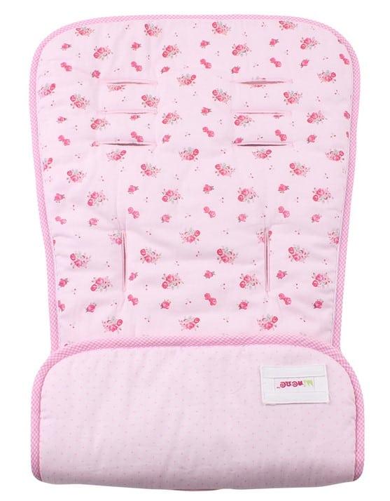 Minene Κάλυμμα Καροτσιού 2 Όψεων Pink Floral / Pink Dots MN21031