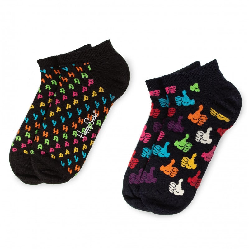 2 Ζεύγη Low HAPPY SOCKS HAP02-9300