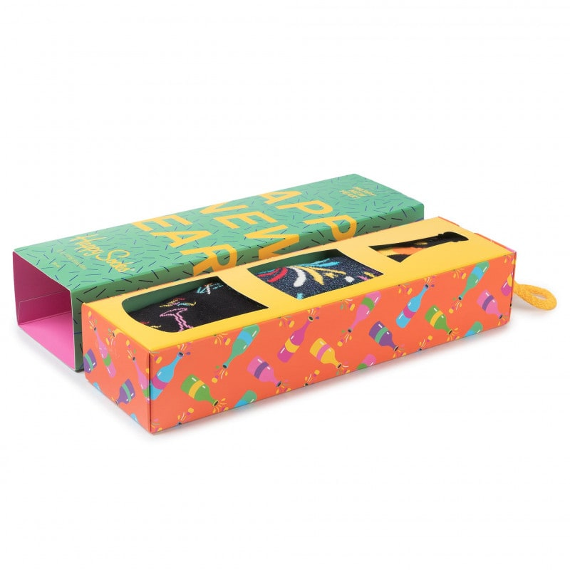 3 Ζεύγη HAPPY NEW YEAR'S GIFT BOX HAPPY SOCKS (SXNEW08-0100)