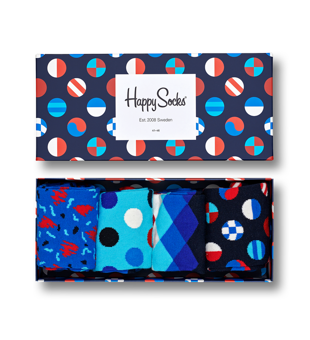 4 Ζεύγη NAVY GIFTBOX HAPPY SOCKS (XNAV09-6500)