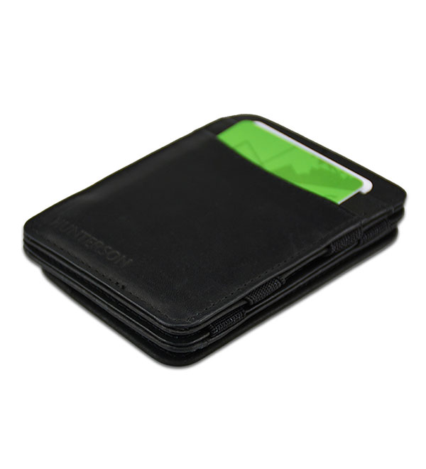 HUNTERSON MAGIC COIN WALLET HU-MW-CP1-RFID-BLK Μαύρο