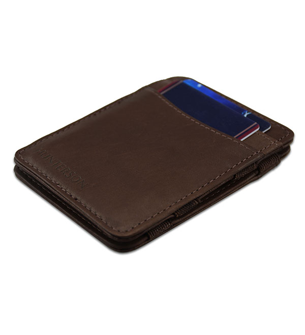 HUNTERSON MAGIC WALLET HU-MW-CS1-RFID-BRN Καφέ