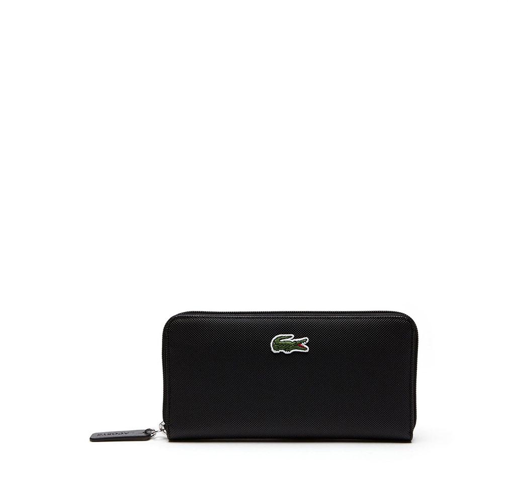 LACOSTE NF2900PO 000 Zip Wallet Μαύρο