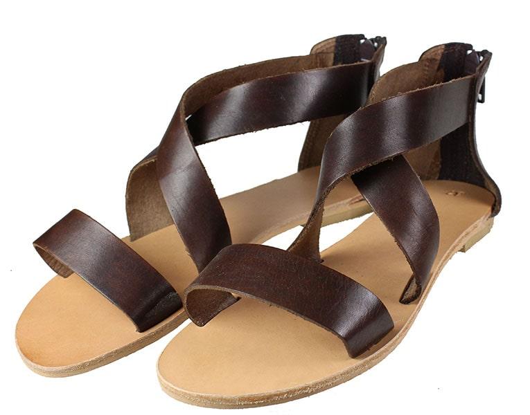 Handmade Sandals 277 Καφέ