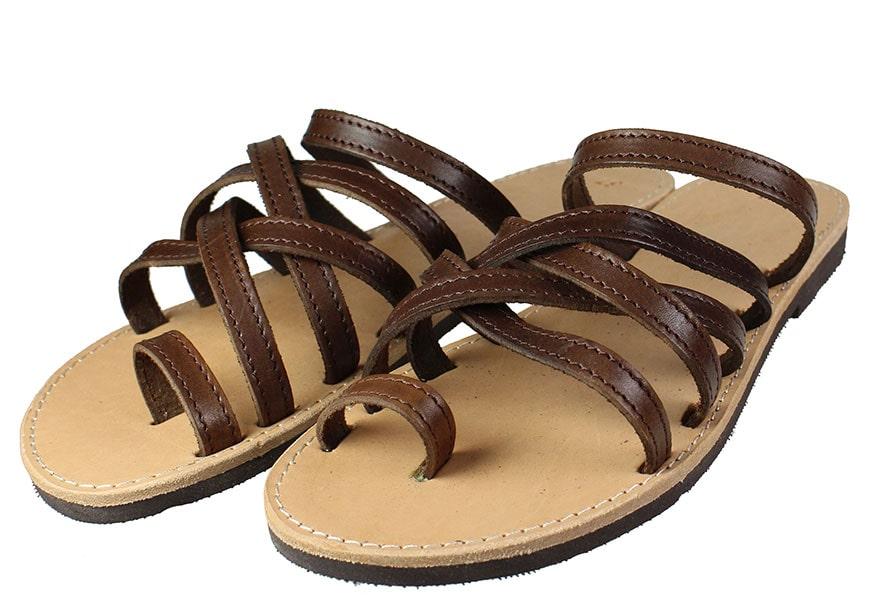 Handmade Sandals 159 Καφέ
