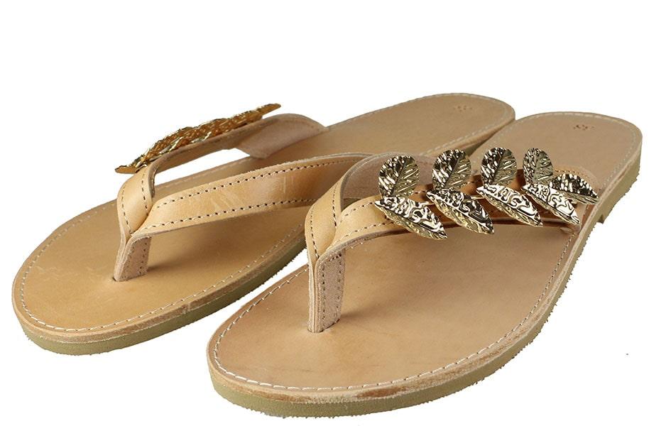 Handmade Sandals 112Σ1 Φυσικό