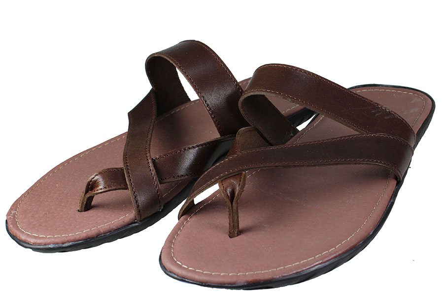 Handmade Sandals 409 Καφέ